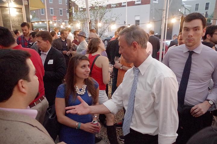 American Sardine Bar hosts Presidential Candidate Martin OMalley in Point Breeze Philadelphia on September 10 2015 - b