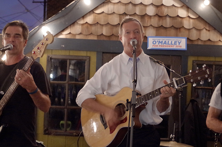 American Sardine Bar hosts Presidential Candidate Martin OMalley in Point Breeze Philadelphia on September 10 2015 - e